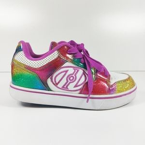 Heelys rainbow glitter skate shoes size 4
